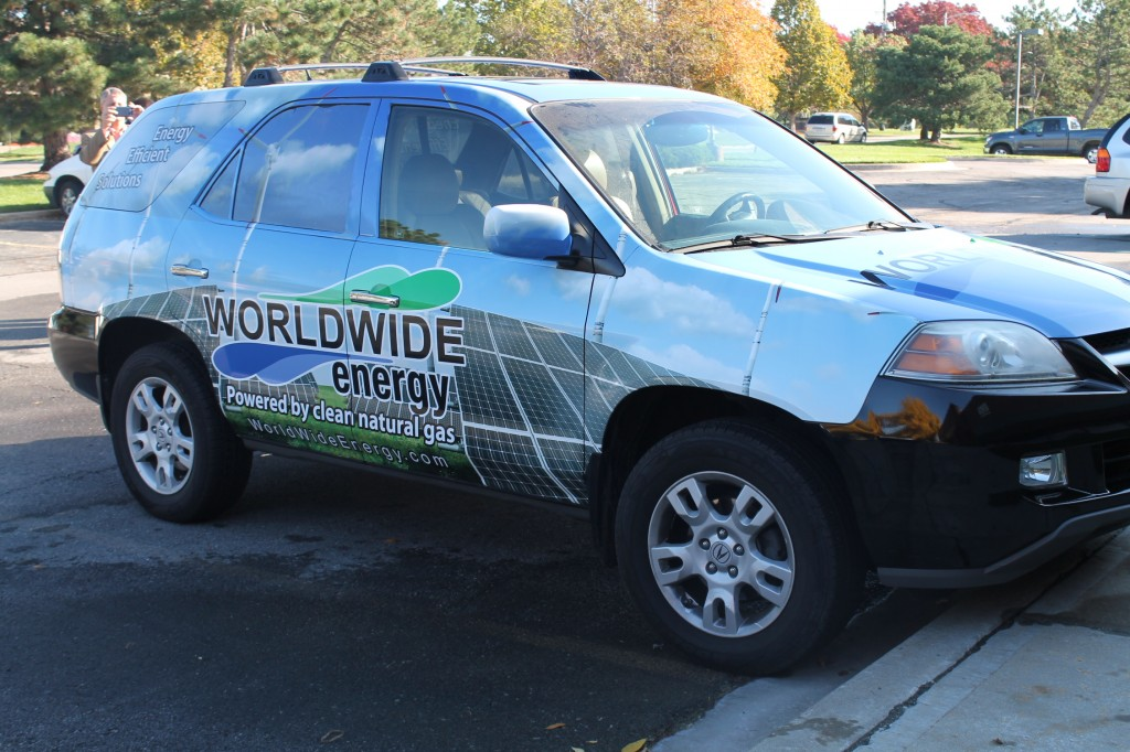 Solar Installation and Energy Audit Kansas City Image of Company Car - Worldwide Energy
